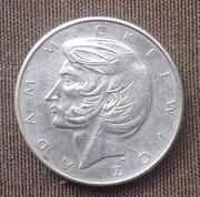 польская монета 1976 года Адам Мицкевич